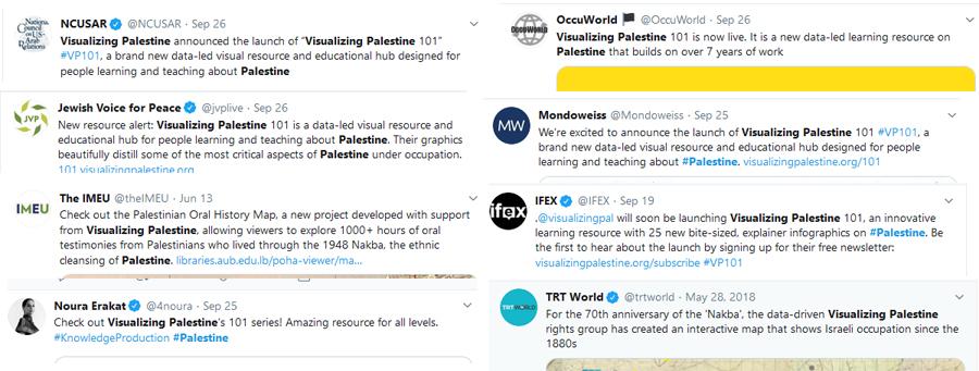 Palestinian solidarity visualizing palestine