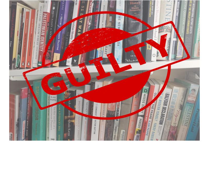 my bookshelf is guilty