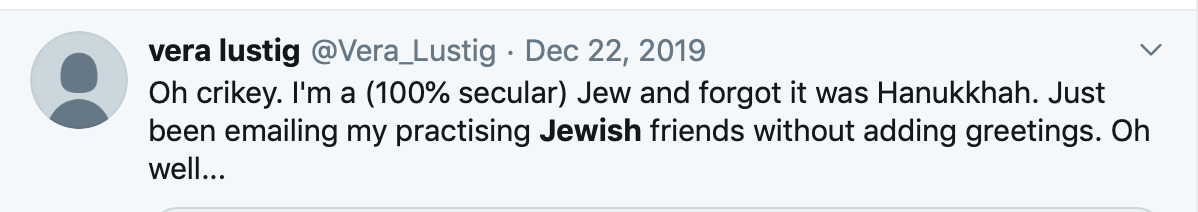 beinart article, forgot hanukkah