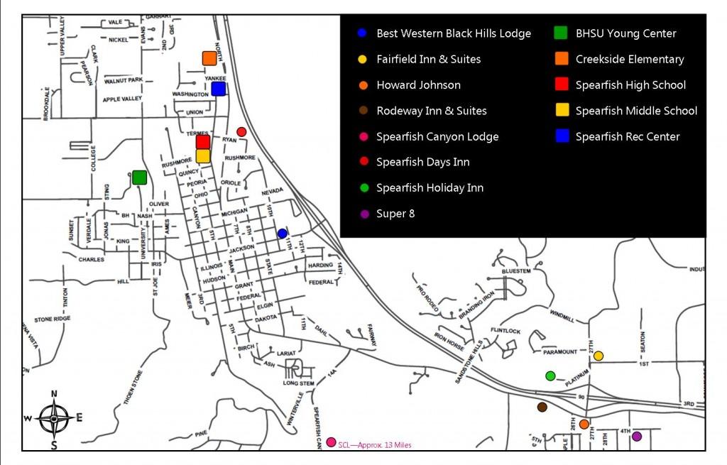Queen City Classic Facilities Map