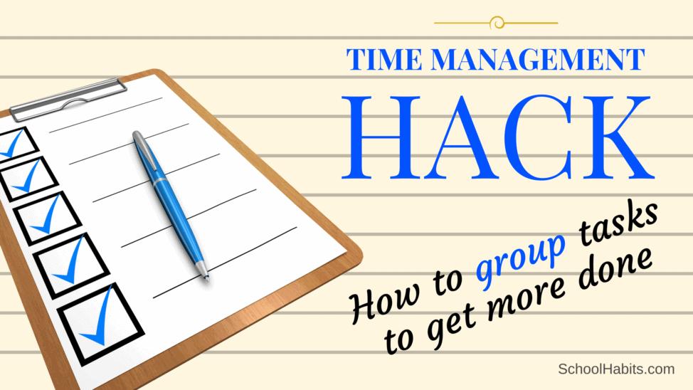 grouping tasks time management