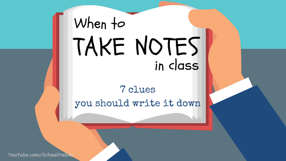 when to take notes in class