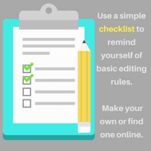 how to edit your own paper