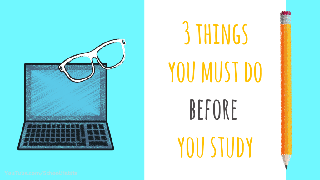 study skills what to do before you study