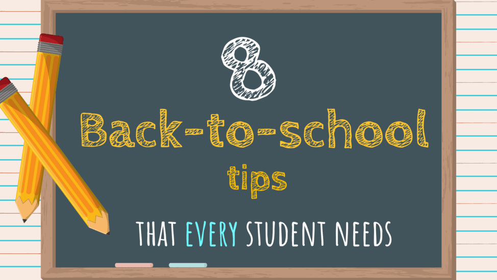 8 back to school tips