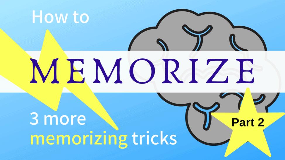 memorization tricks