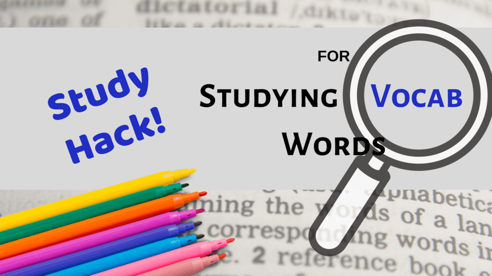 a fun way to study vocabulary words