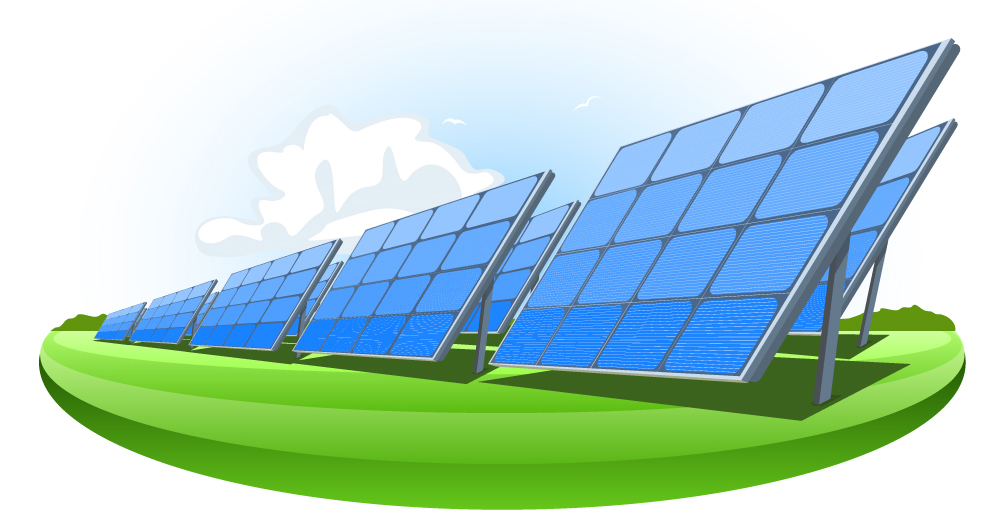 illustration of solar panels
