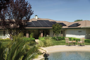 image of home with solar panels on roof