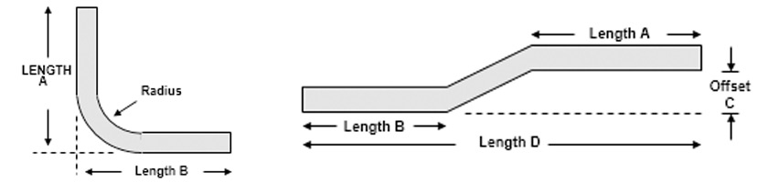 Elbow and custom bending diagram