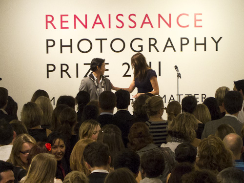 Peikwen Cheng receiving Renaissance Photography Category Prize