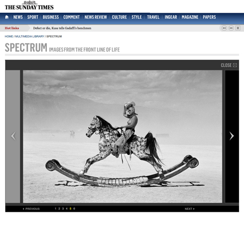Sunday Times feature on the Renaissance Photography Prize winning photographs, including Free on the Range by Peikwen Cheng
