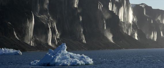Antarctica, Antarctic Peninsula, Vega Island, Waterfalls