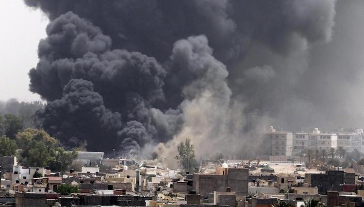 NATO bombs Tripoli [FOR NO REASON], Spring 2011 (Reuters)
