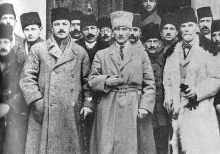 Mustafa Kamal Ataturk and entourage
