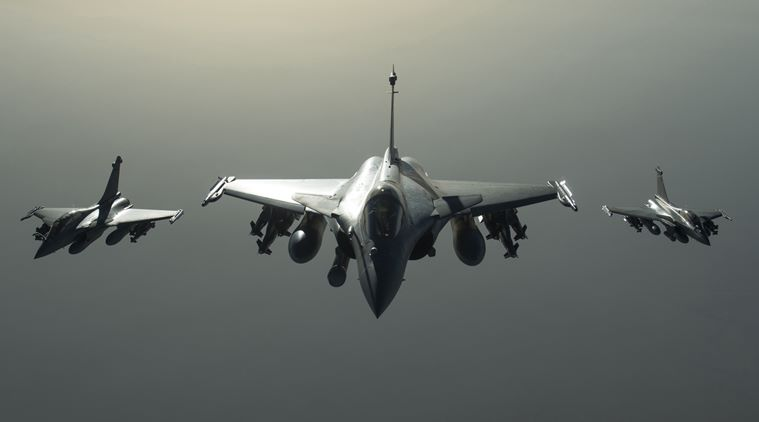 This photo released on Sunday, Sept. 27, 2015 by the French Army Communications Audiovisual office (ECPAD) shows French army Rafale fighter jets flying towards Syria as part of France's Operation Chammal launched in September 2015 in support of the US-led coalition against Islamic State group. Six French jet fighters targeted and destroyed an Islamic State training camp in eastern Syria in a five-hour operation on Sunday, President Francois Hollande announced, making good on a promise to go after the group that he has said is planning attacks against several countries, including France. (French Army/ECPAD via AP) THIS IMAGE MAY ONLY BE -- USED FOR 30 DAYS FROM TIME TRANSMISSION.
