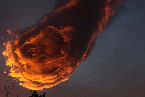 HOLY MOLEY: It looks just like a flaming fireball