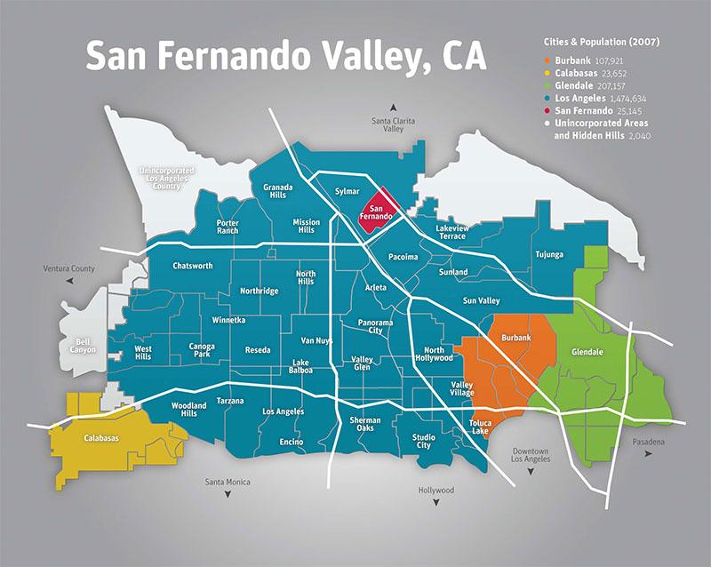 san-fernando-valley-map