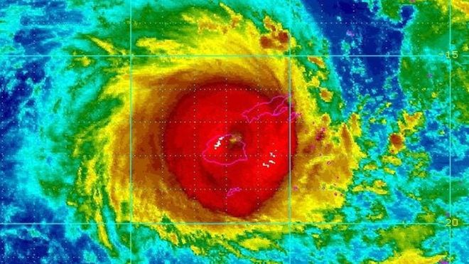 Cyclone Winston is category five - the highest storm category