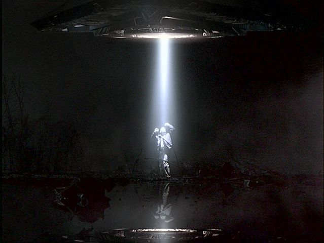 A simulated alien abduction on The X-FILES that the U.S. Government would like the world to believe really happened