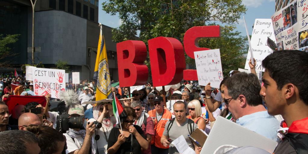 BDS protest in Montreal, Canada. (Tadamon.ca)