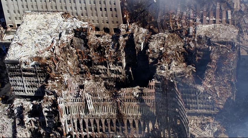 9/11 devastation in New York City
