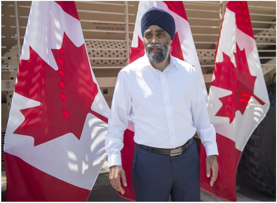 Defence Minister Harjit Sajjan says Canada will lead one of NATO's four new battle groups as part of its deterrent against Russia.  (ANDREW VAUGHAN / THE CANADIAN PRESS)