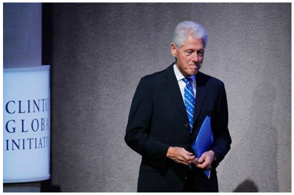 Former President Bill Clinton walks onstage at the Clinton Global Initiative on Monday, Sept. 19, 2016, in New York. Mark Lennihan AP Read more here: http://www.mcclatchydc.com/news/politics-government/election/article103196302.html#storylink=cpy