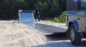 Renovagen unrolling solar microgrid for events, farms, military uses etc. Source: Renovagen