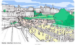 Pedestrianisation of Waverley, Edinburgh, as propsed by Jacobs