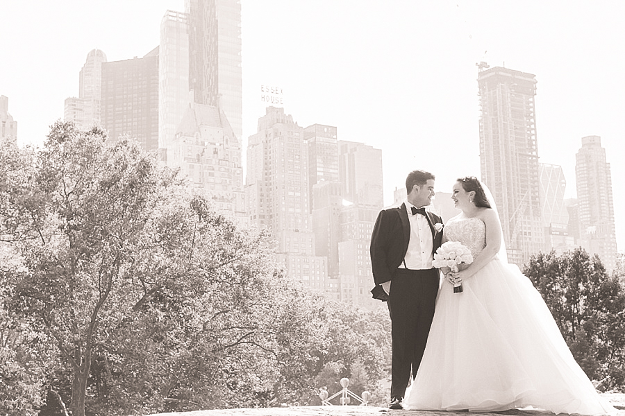 central park wedding photo shoot