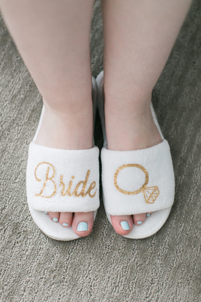 wedding day slippers