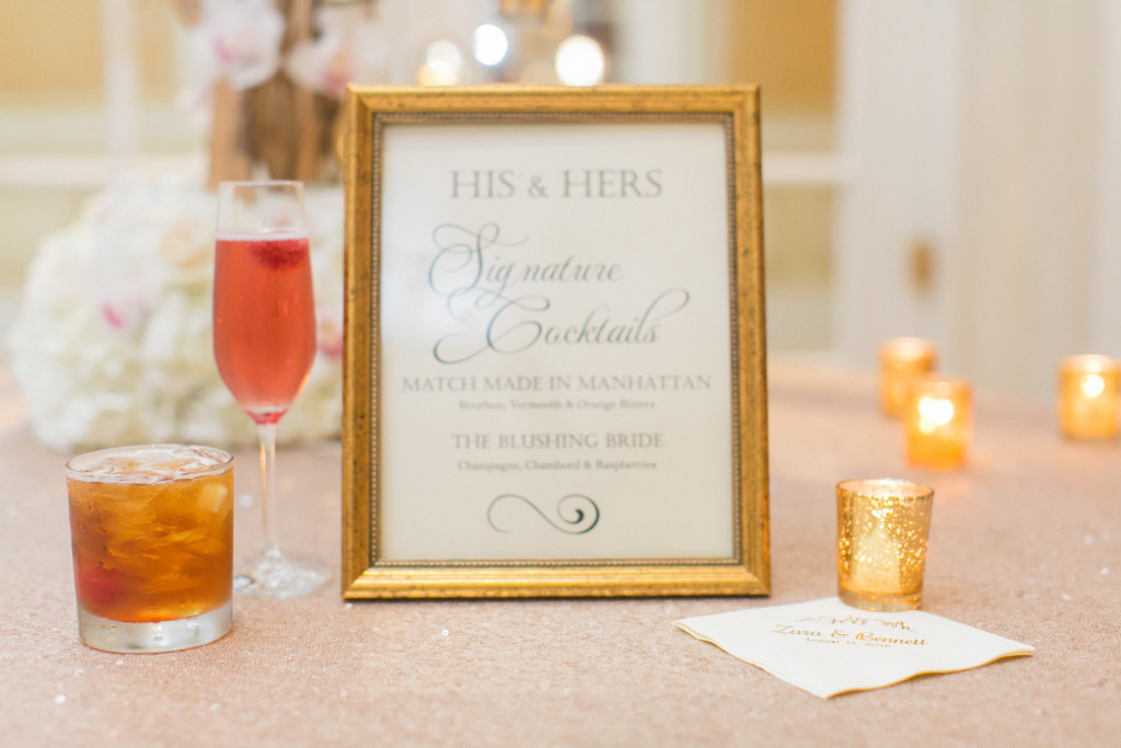 signature wedding drink ideas