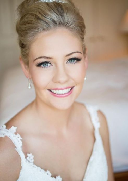 neutral wedding makeup