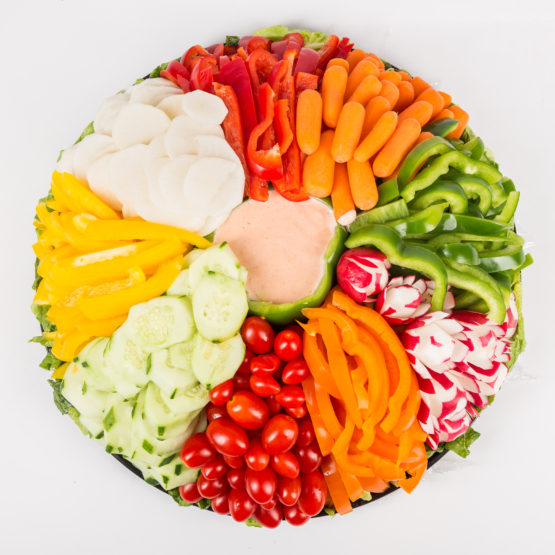 fresh vegetable platters