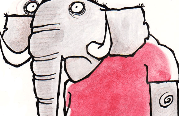 The Friday Cartoon: An Elephant In A Football Kit