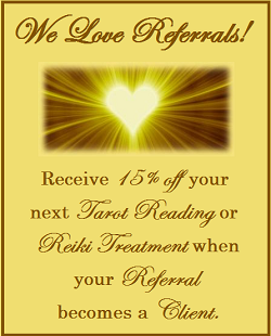 Receive a discount on a Tarot Reading