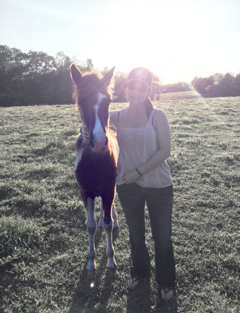 "Julie and Baby Horse ""AK"" in Catherine, Alabama"
