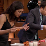 Priyanka Chopra and Jimmy Fallon Wing-Eating Contest
