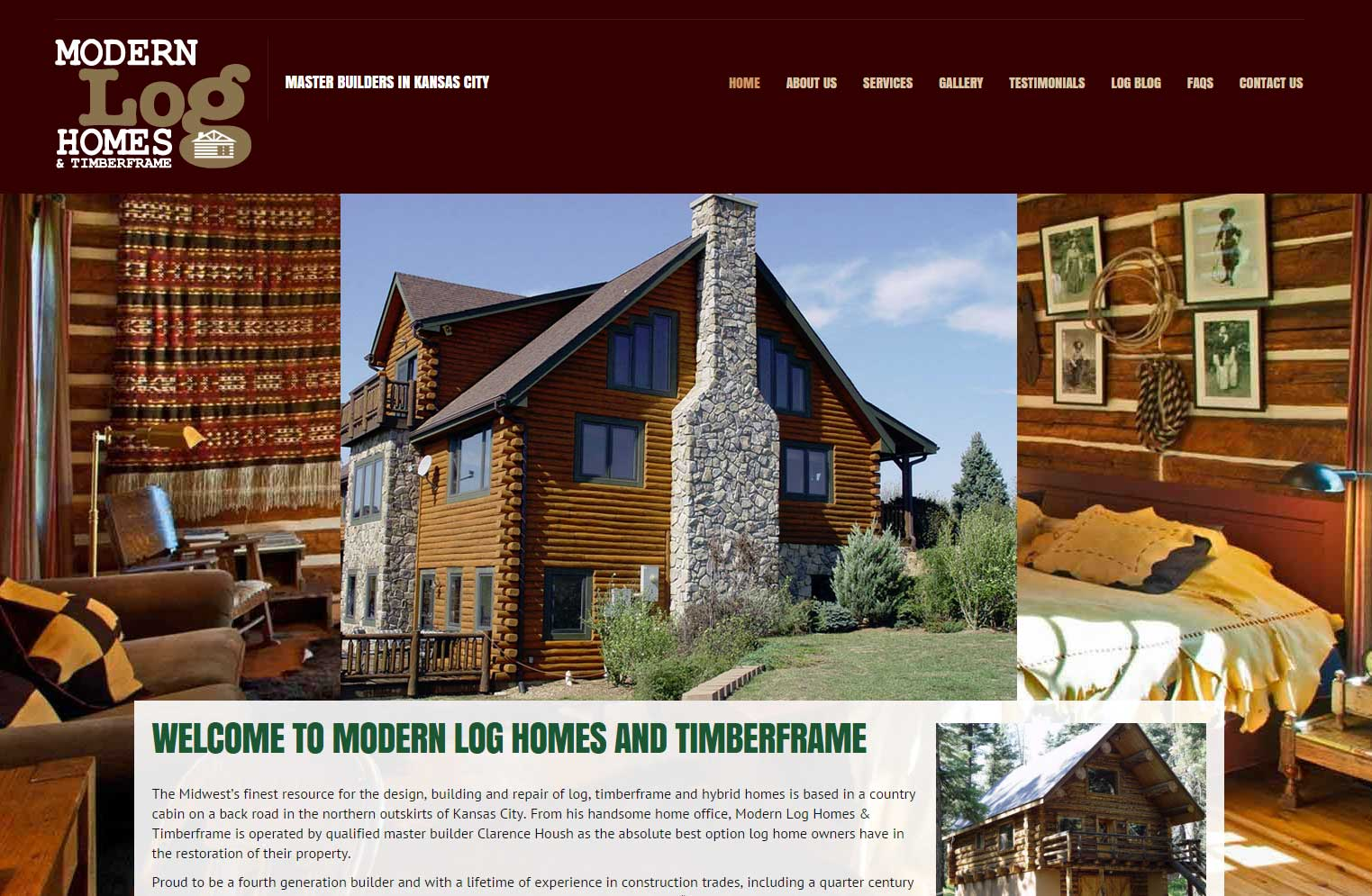 Modern Log Homes & Timberframe in KC