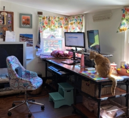 An employee's home office