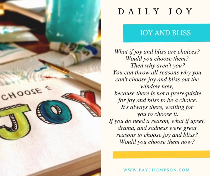 JOY AND BLISS