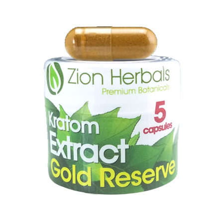 Zion Herbals 5 Cap Glod reserve Extract Jar