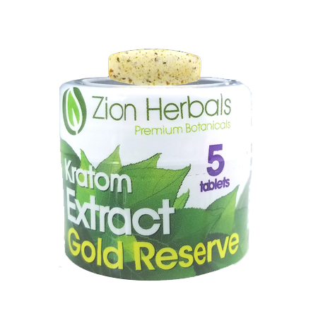 Zion herbals 5 Tablet Gold Reserve Extract Jar