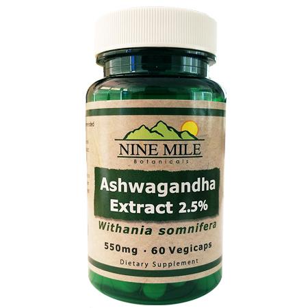 Nine Mile Botanicals Ashwagandha 2.5%