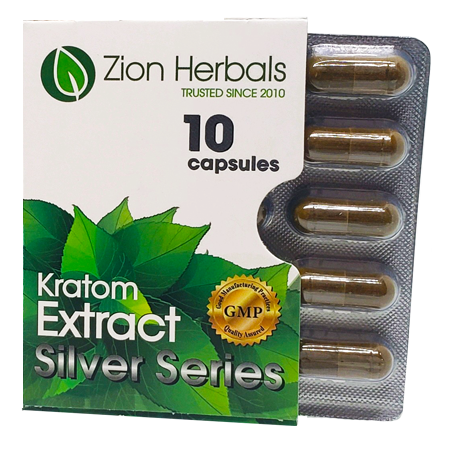 Zion Herbals Silver Series 10 Capsule Blister