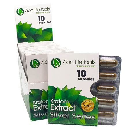 Zion Herbals Silver Series 10ct display box_