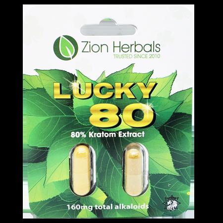 Zion Herbals 80% Kratom Extract Capsules