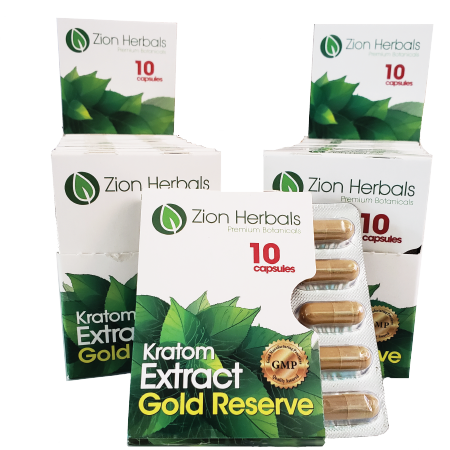 Zion Herbals gold reserve 10ct display