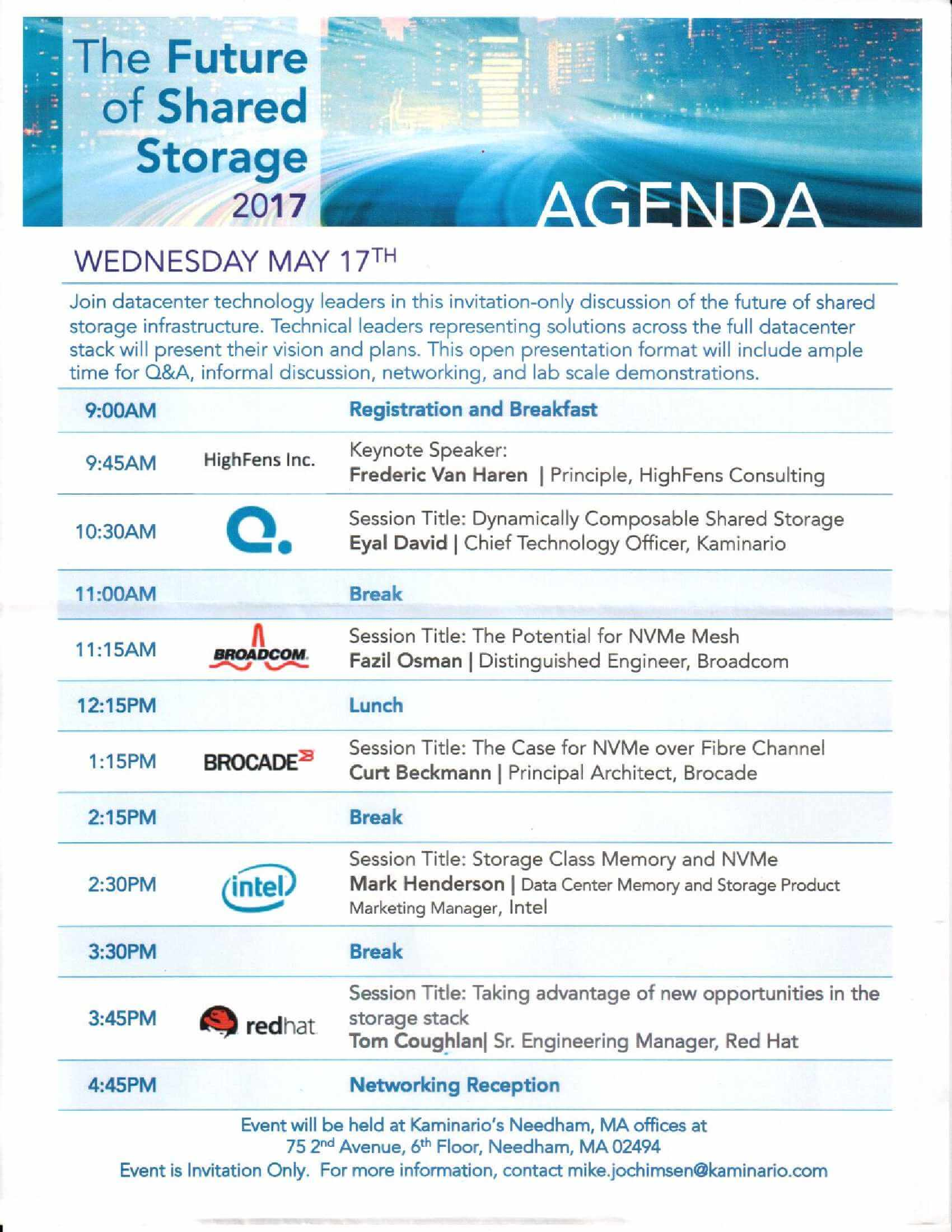 HighFens Inc - Agenda - The Future Of Cloud-Scale Application Infrastructure